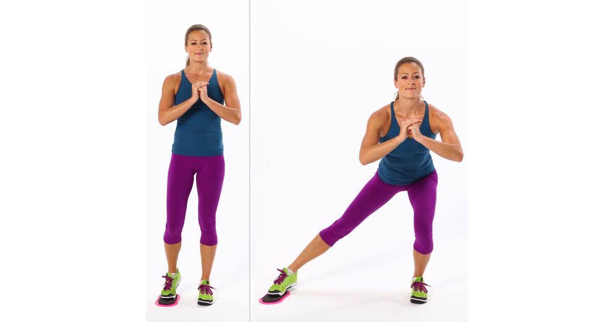 Glider Side Lunge Inner Thigh Exercises Popsugar
