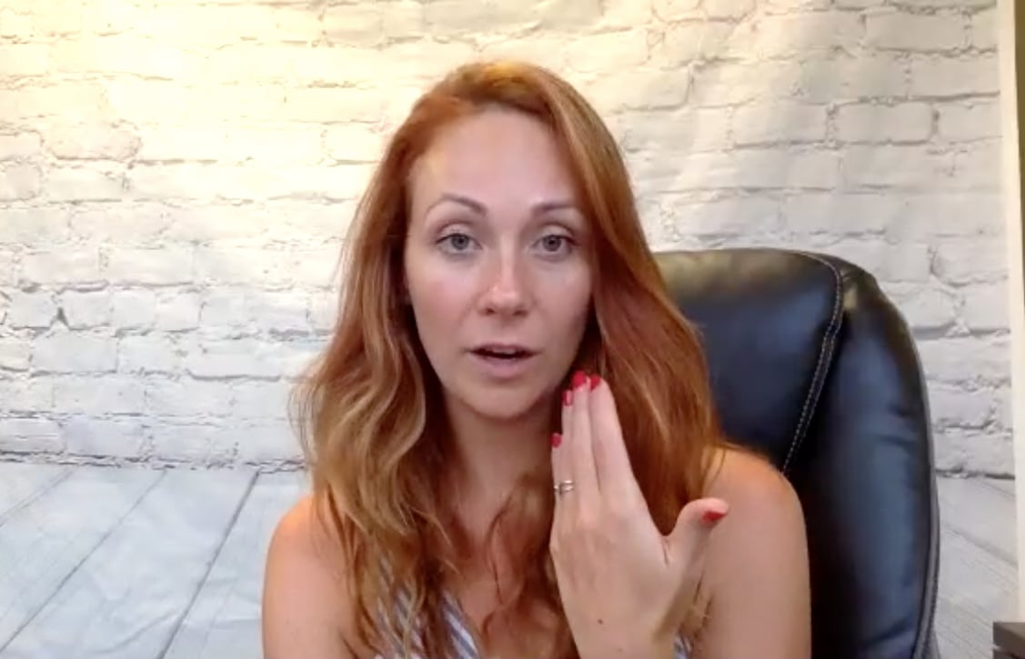 Grace Smith during hypnotherapy session
