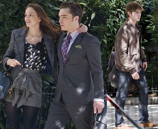 Pictures of Gossip Girl Cast Filming