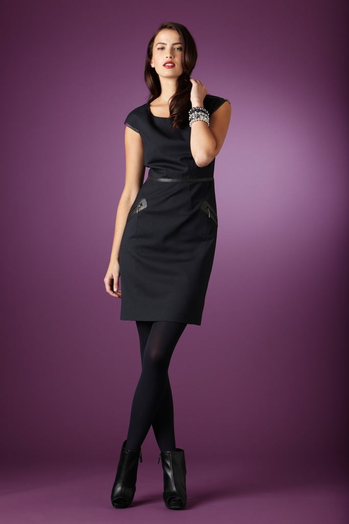 Worthington® Leather Trim Dress With Zipper Detail — $39.99