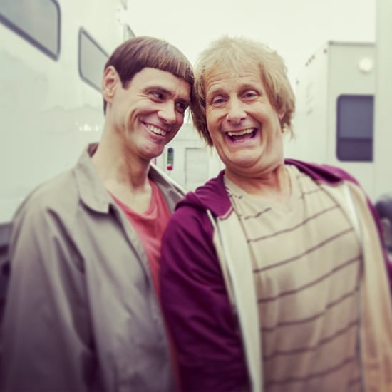 Jim Carrey and Jeff Daniels on Dumb and Dumber 2 Set
