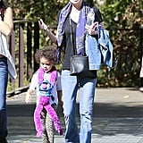 Ellen Pompeo spent her Saturday at the LA Zoo with her daughter, Stella.