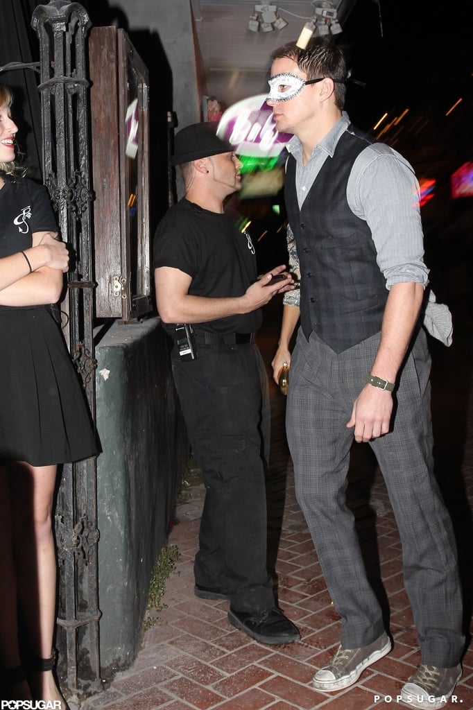 Channing Tatum wore a mask in New Orleans.
