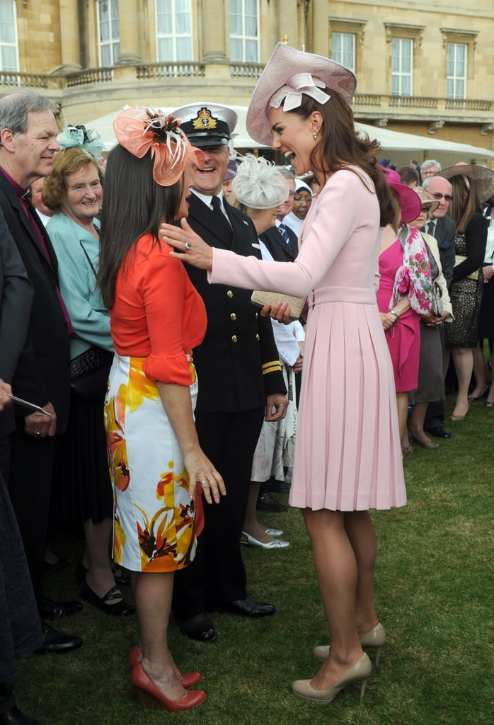 Kate Middleton had a laugh while at the event at Buckingham Palace.