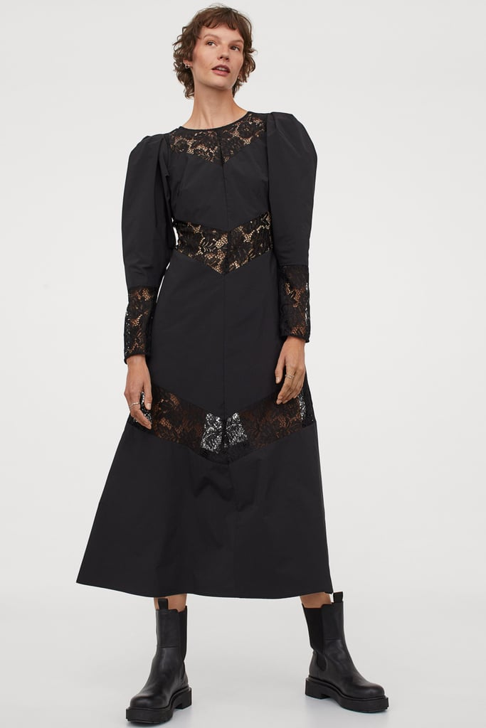 Lace-Trimmed Dress
