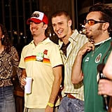 The guys of *NSYNC talked to TRL's Hilarie Burton in 2001.