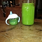 Hilary Duff shared her green smoothie with lil Luca. Source: Twitter user HilaryDuff