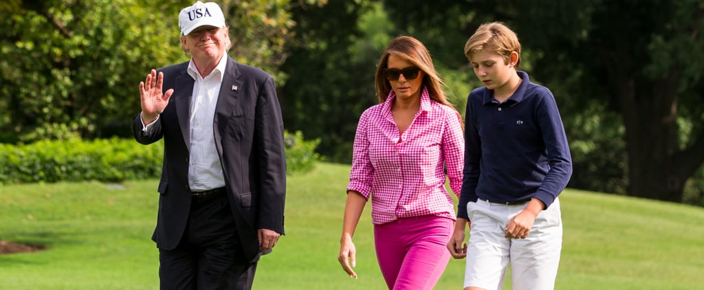 Melania Trump Pink Outfit August 2017