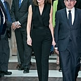 Letizia in Hugo Boss, April 2018