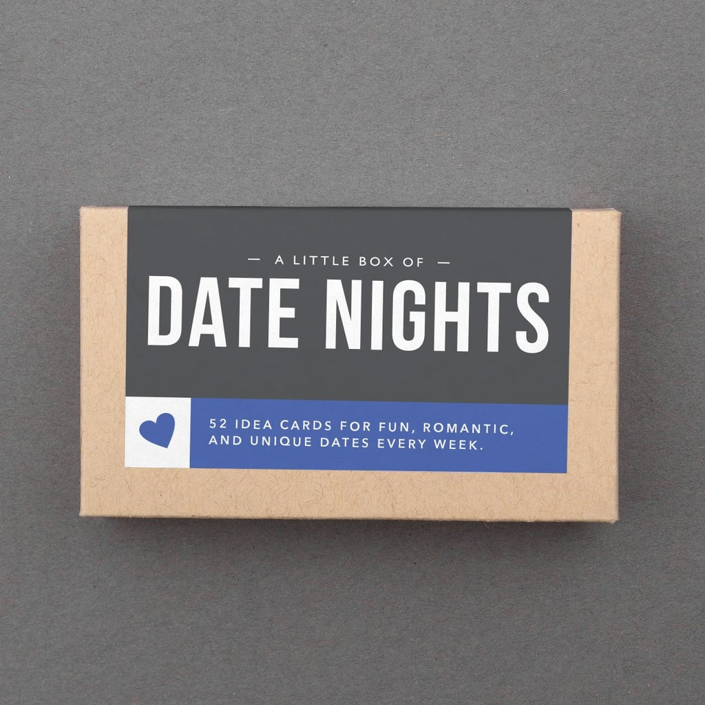 Netflix and chill is always a good time, but there's something to be said for moving out of your routine with a fun, creative date night. Enter The Little Box of Date Nights ($18), a sweet collection of 52 date ideas for couples. Available in FlytraponE's Etsy shop, the cards feature cute options for quick getaways, out-of-the-box movie dates, staycations, and foodie festivities. Just looking for a little extra romance? There's a box for that. Want something a little sexier? Yep, there's a box for that too. Keep reading to take a peek at some of the creative ideas in the Date Nights box — the perfect stocking stuffer for your other half!      Related:                                                                                                           44 Stocking Stuffers That Look Way More Expensive Than They Are