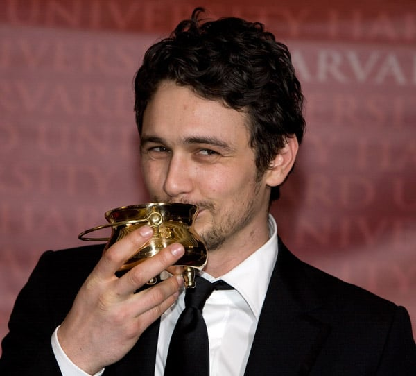 James Franco Receives the Hasty Pudding Pot