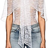 Givenchy Lace Cape Blouse
