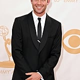 Mad Men's James Wolk gave a cute smile on the Emmys red carpet.
