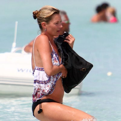 Kate Moss in the Ocean