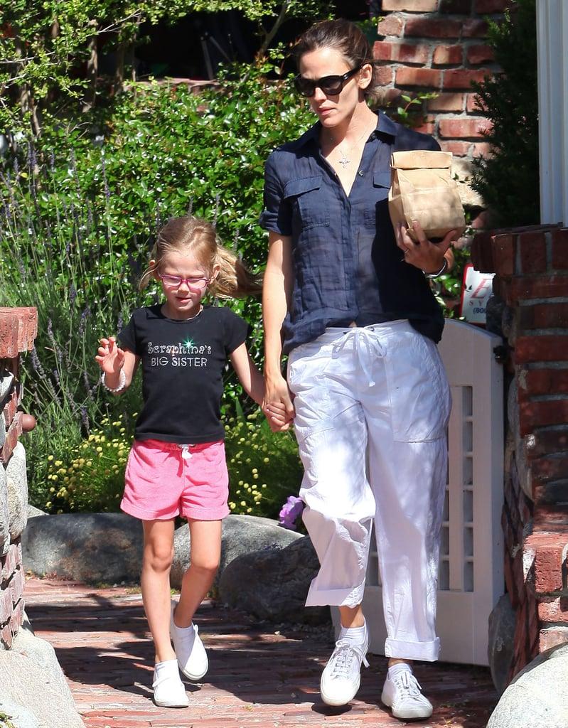 Jennifer Garner and Big Sister Violet Keep Seraphina in Mind During a Garden Tour