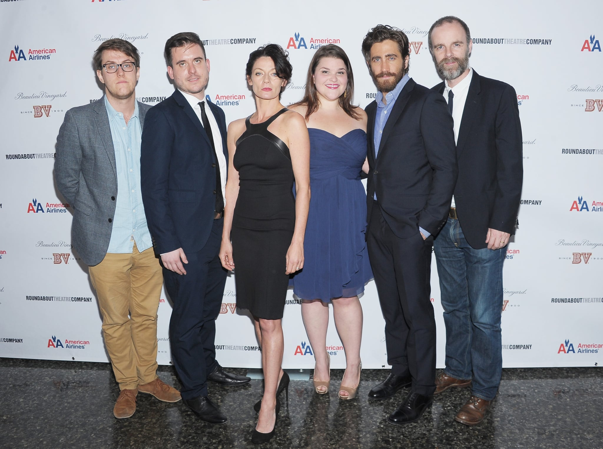 The cast of If There Is I Haven't Found It Yet took a group photo following their opening night performance.