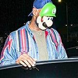 LeBron James Wearing a Luigi Mask For Halloween