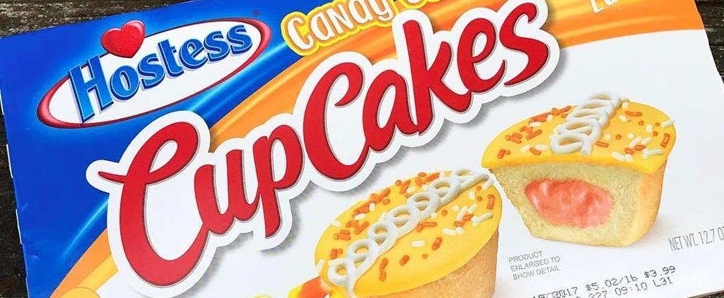 Hostess Candy Corn Cupcakes