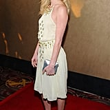 Kate Bosworth wore a pale yellow studded dress to the premiere of Life Happens in Century City.