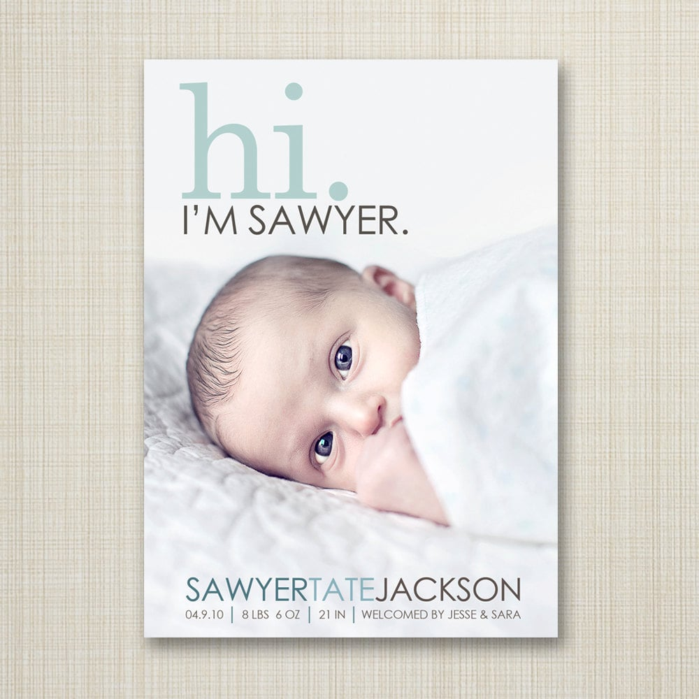 35 Beautiful Birth Announcement Cards That Are Going to Make You Want Another Baby