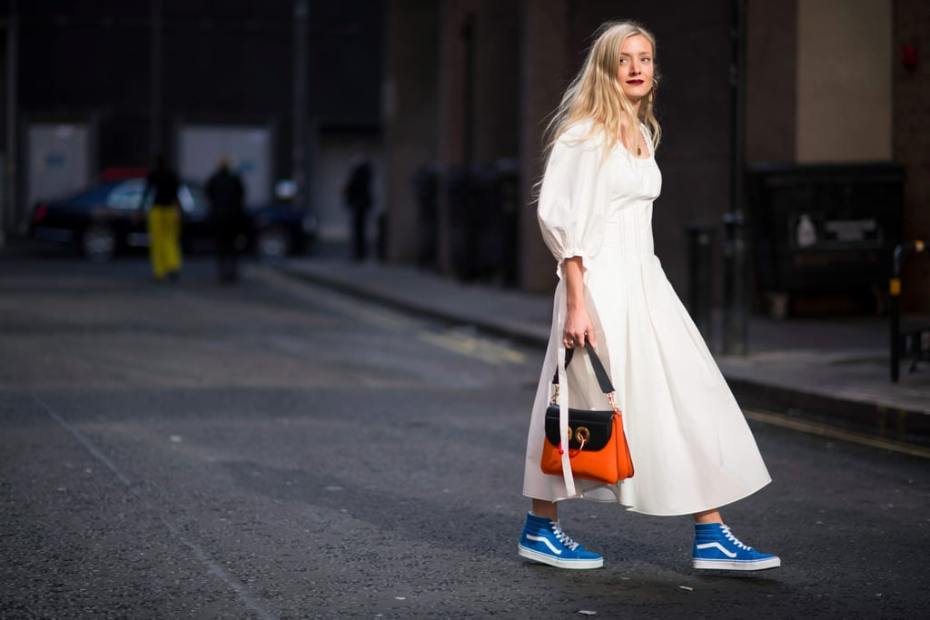 How Street Style Stars Wear Dresses and Sneakers