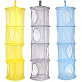 KisSealed 3 Pcs Hanging Mesh Space Foldable Storage Baskets