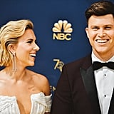 Pictured: Scarlett Johansson Colin Jost