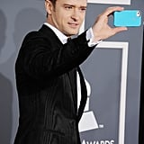 Justin Timberlake snapped a photo as he arrived.