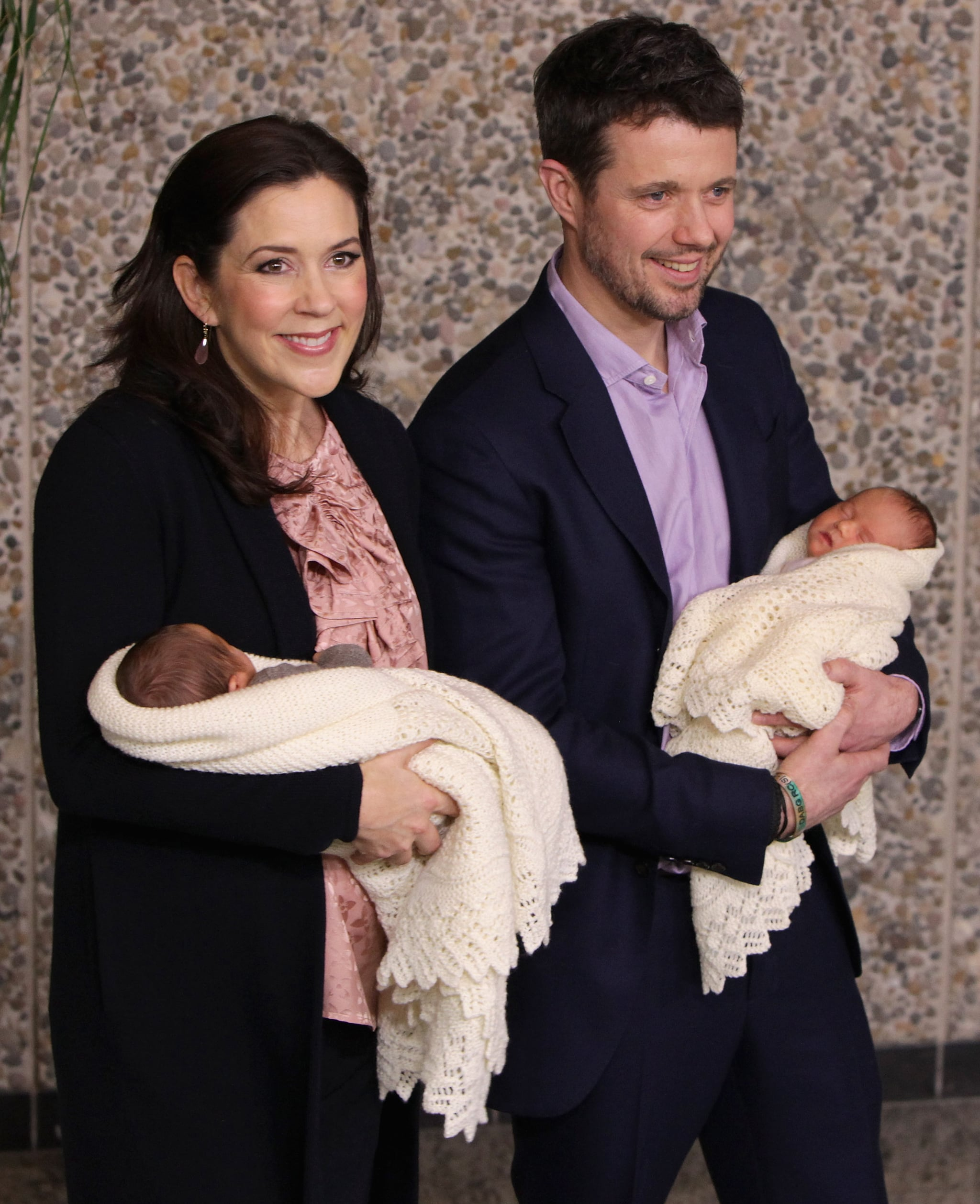 Crown Princess Mary And Prince Frederk Of Denmark Hold