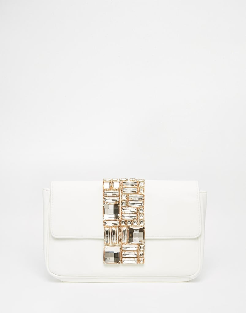 Asos Bridal Flap Over Embellished Clutch Bag ($54)