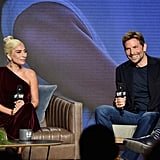 Gaga and Bradley looked totally at ease during a press conference at TIFF.