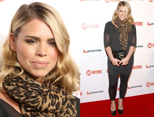 Photo of Billie Piper on Red Carpet with Leopard Scarf