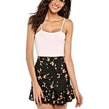 Zeagoo High-Waist Floral Skirt