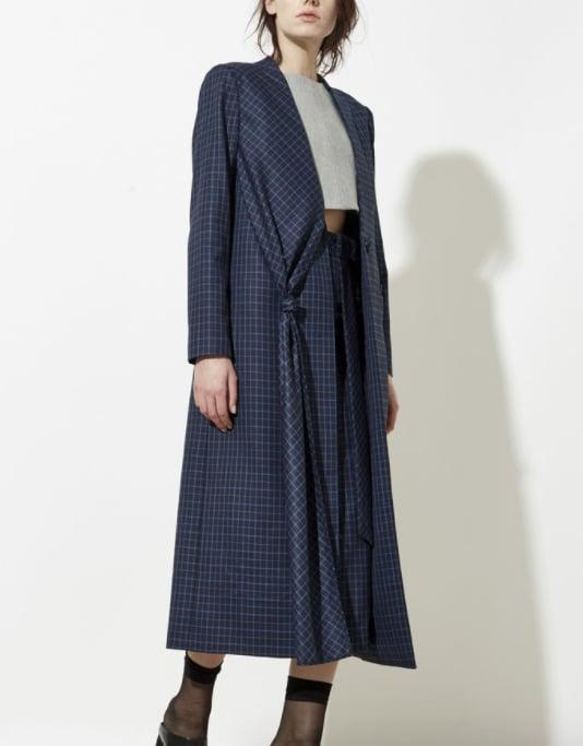 Behno Niu Overcoat ($1,525) Zia Skirt ($395)