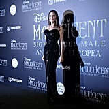 Angelina Jolie's Atelier Versace Strapless Gown October 2019