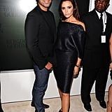 Super sleek duo Brian Atwood and Victoria Beckham strike a pose at Bergdorf Goodman in NYC.