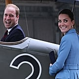 Kate looked on as Prince William got really, really excited to sit in a plane in Wellington, New Zealand.