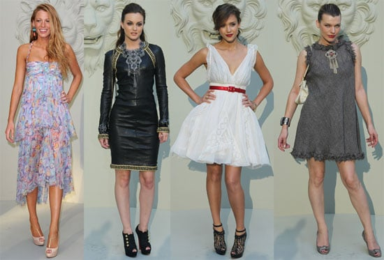 Jessica Alba, Blake Lively, and Leighton Meester at the Paris Chanel Fashion Show