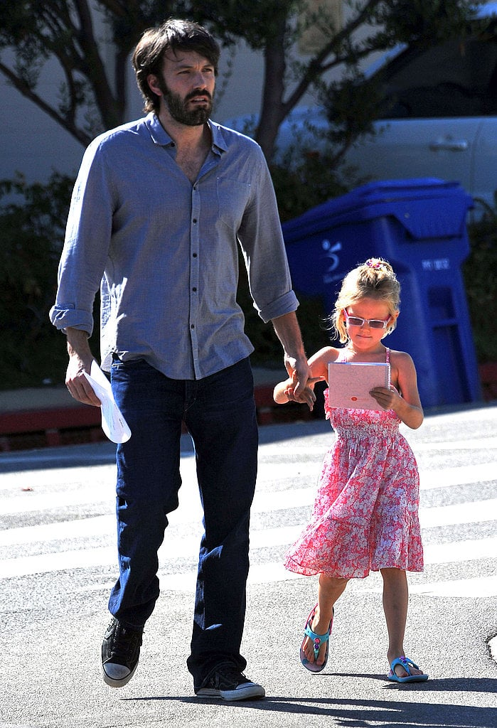 Violet Affleck and Dad Ben Affleck