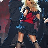 "Jessica Simpson performed a sexy rendition of ""These Boots Were Made For Walkin'"" in 2006."