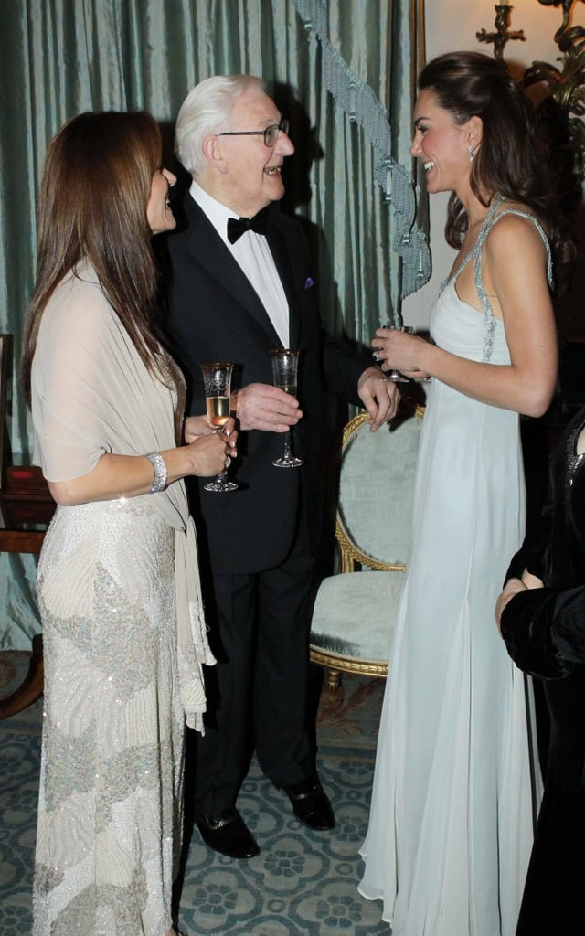 6c2a2d3ac2 Pictures of Kate Middleton at the In Kind Direct charity event. See her  Glam Amanda Wakeley Gown from All Angles