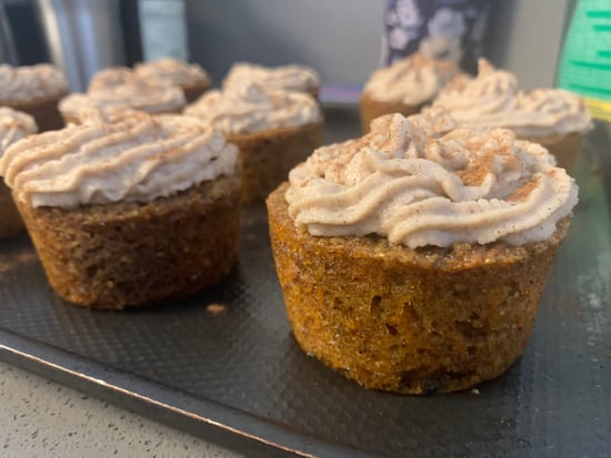 Vegan Carrot Cake Cupcakes and Cashew Frosting | Fall Recipe