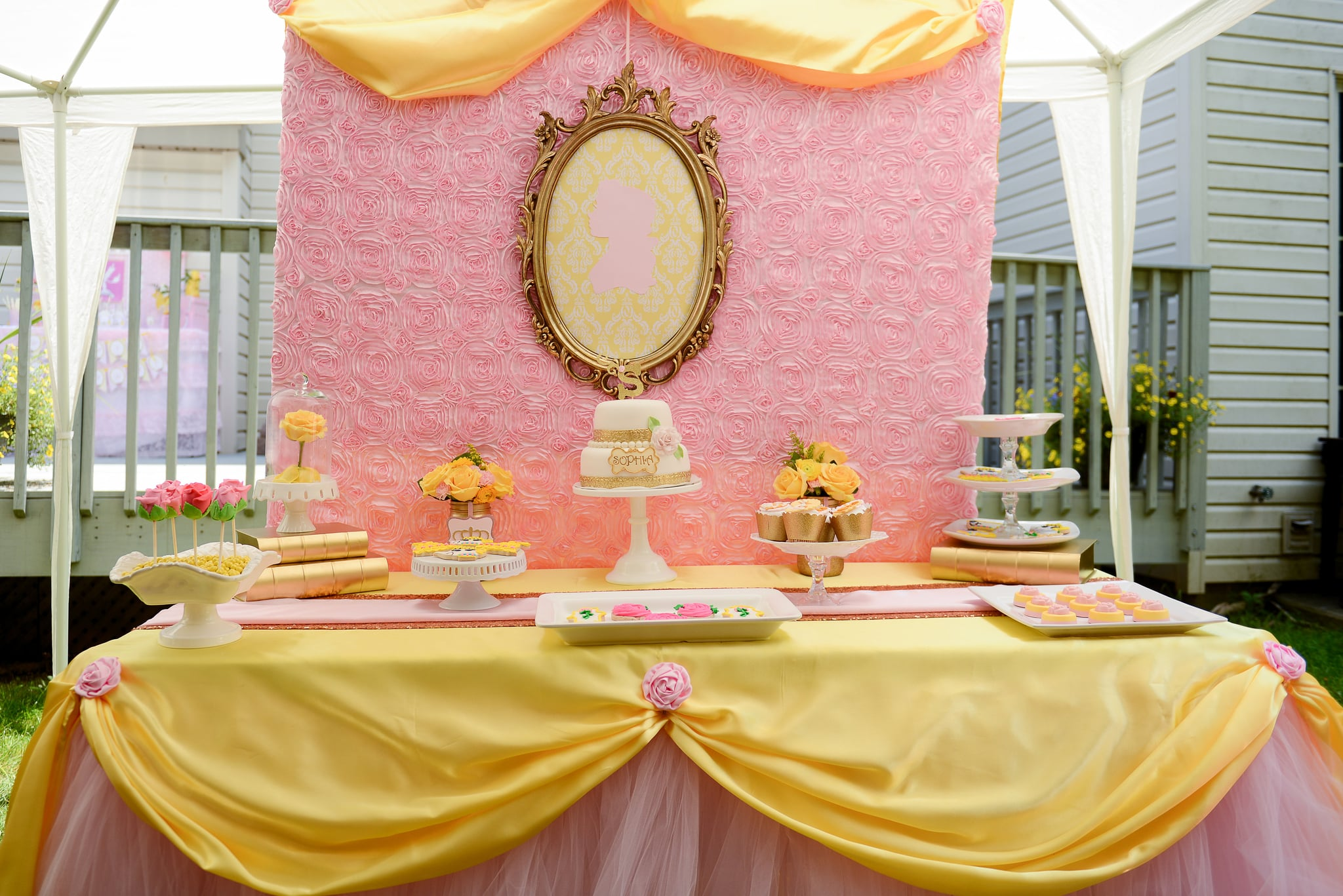 Beauty And The Beast Belle Birthday Party Popsugar Family