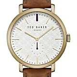 Ted Baker London Trent Leather Strap Watch