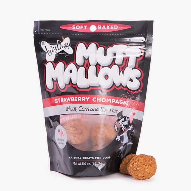 Strawberry Chompagne Mutt Mallows ($7)