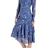Cooper St Heavenly Long Sleeve Ruffle Midi Dress