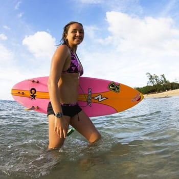 Interview With Pro Surfer Carissa Moore and Her Trainer Lisa Stewart
