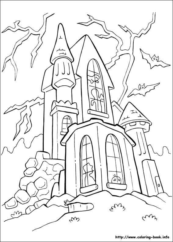 Get The Coloring Page Haunted House
