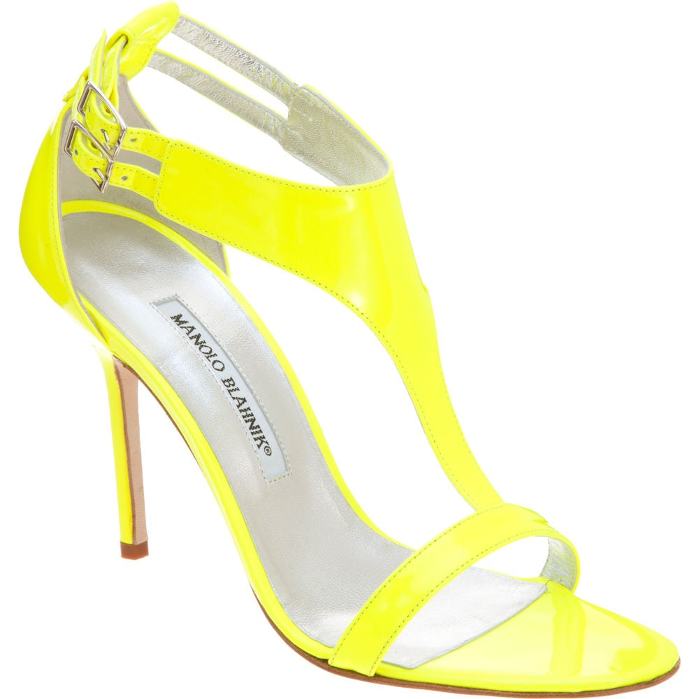 Are you a fan of neon hues? Let this heel do all the talking.