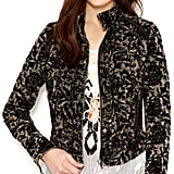 Free People Floral Jacquard Moto Jacket